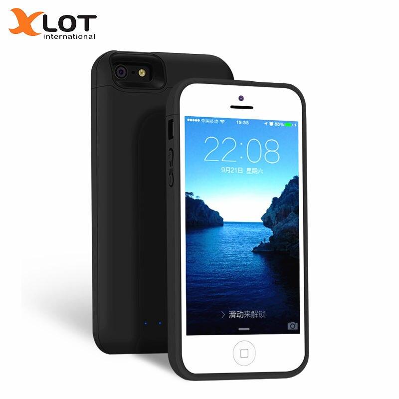 5XLOT 4000 mAh Caso Carregador de Bateria para o iphone 5 5S SE magro qualidade Caso De Energia de Backup de Bateria Externa Caso De Carregamento para o iphone SE