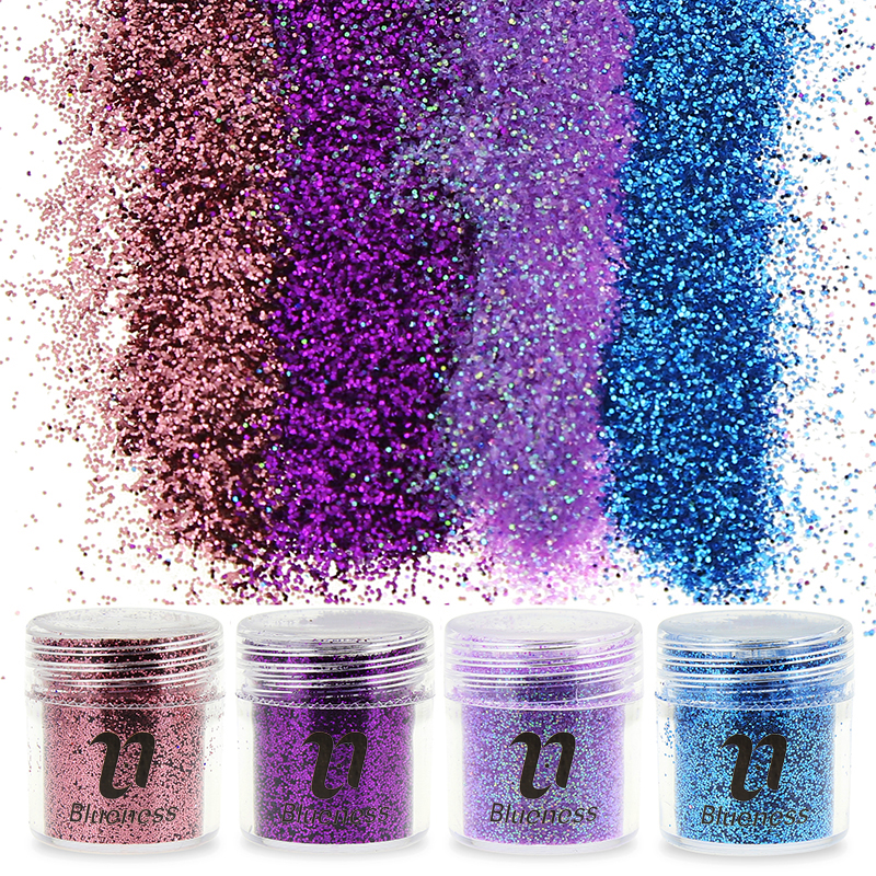 1 fles 4 kleuren Design Choice Sequin Dust 3D Nail Glitter Decoraties Acryl Glitters Poeder Nail Art Tips BG021 - BG024