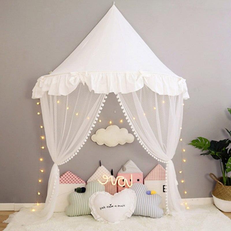 acbd52543 Detalle Comentarios Preguntas sobre Tienda de campaña para la habitación de  los niños cama de bebé Tipi Enfant tipis para niños casa tienda Mosquito  red ...