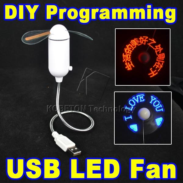 Mini USB Fan portable gadgets Flexible Gooseneck LED Cool For laptop PC Notebook real Time Display durable Adjustable lucog mini usb fan with led flashing light gooseneck cool time clock display usb flexible cooling fan for pc laptop notebook