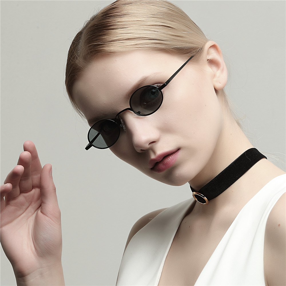 e227baaaf5 MINCL 2018 Hot Sale Fashion Vintage Small Oval Sunglasses Unisex Chic Sexy  Luxury Brand Designer Red Lens Eyewear UV400 gyw-in Sunglasses from Apparel  ...