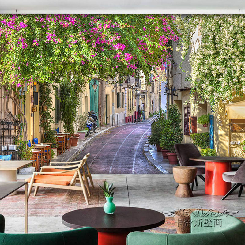 Buy customized streetscape mural for Beautiful wall mural