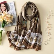 Women Silk Scarf Classical Large Shawl Soft Long Wrap NEW 180 x 90 cm [3238]