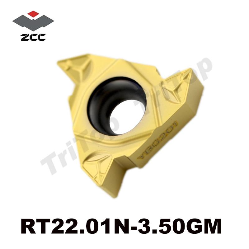 22IR 3 50 ISO standard Internal Threading insert RT22 01N 3 50GM YBG201 General pitch threading