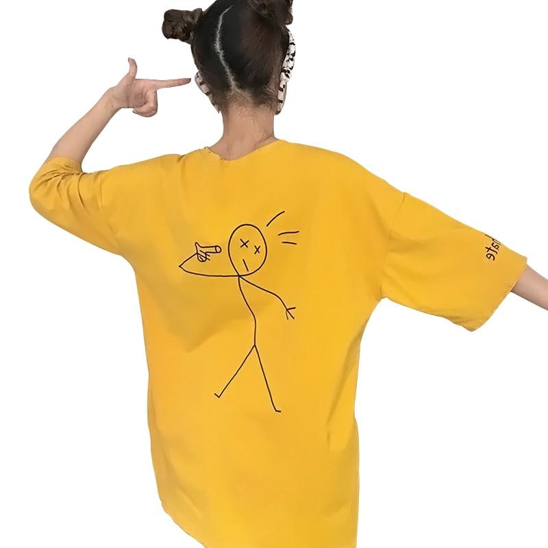 Women T Shirt Short Sleeve Befree Loose Big Size 2018 Summer Tops Women Casual White T Shirts Korean Tee Shirt Female Clothes