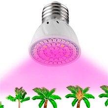Luz de cultivo de espectro completo para interior, Bombilla fitolampa E27 de 220V SMD 2835 para plántulas, lámpara de fitolamp para plantas, iluminación, 1 ud.