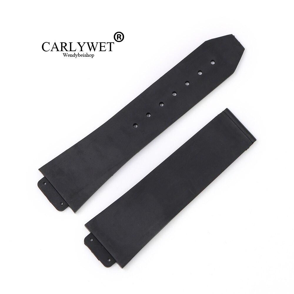 CARLYWET 23*15.5mm Black Waterproof Silicone Rubber Replacement Wrist Watch Band Strap Belt For Bigbang цена