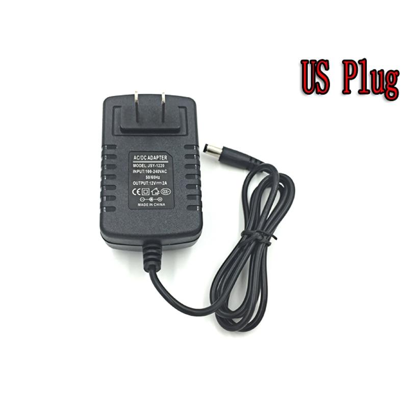 Светодиодный блок питания зарядное устройство Трансформатор Адаптер AC110V 220V к DC12V 2A зарядное устройство для светодиодной полосы света