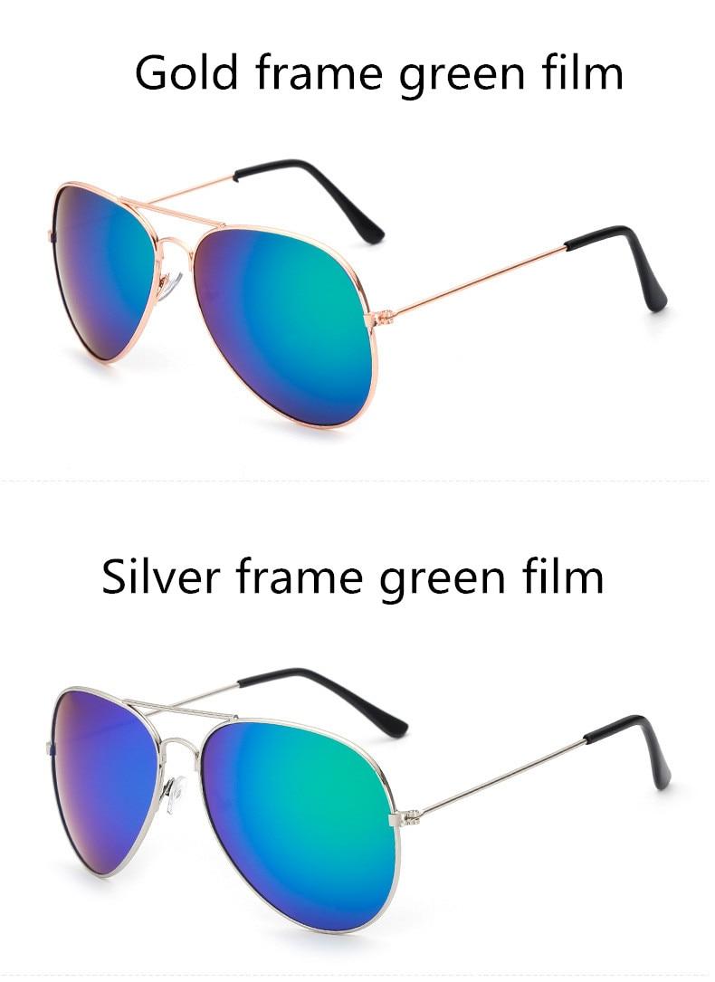 ASUOP2018 new ladies retro cat eye sunglasses luxury brand fashion men's pilot glasses UV400 night vision goggles night vision goggles (15)