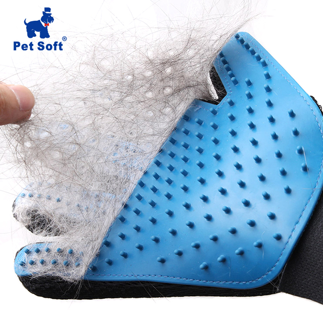 Pet suave de silicona perro gato mascota cepillo guante gato limpieza suave eficiente guante de aseo de gato perro accesorios de baño guante de Mascota peines