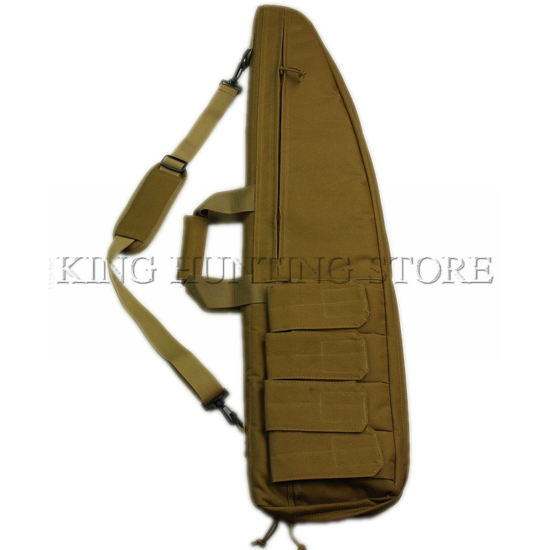 Tan Airsoft Hunting Accessories Gun Rifle Bag Slip Bevel Carry Tactical Shoulder Rifle Case with Magazine pouch Rifle gun bag 47 folding fishing rod bag tactical duel rifle gun carry bag with shoulder strap outdoor fishing hunting gear accessory bag