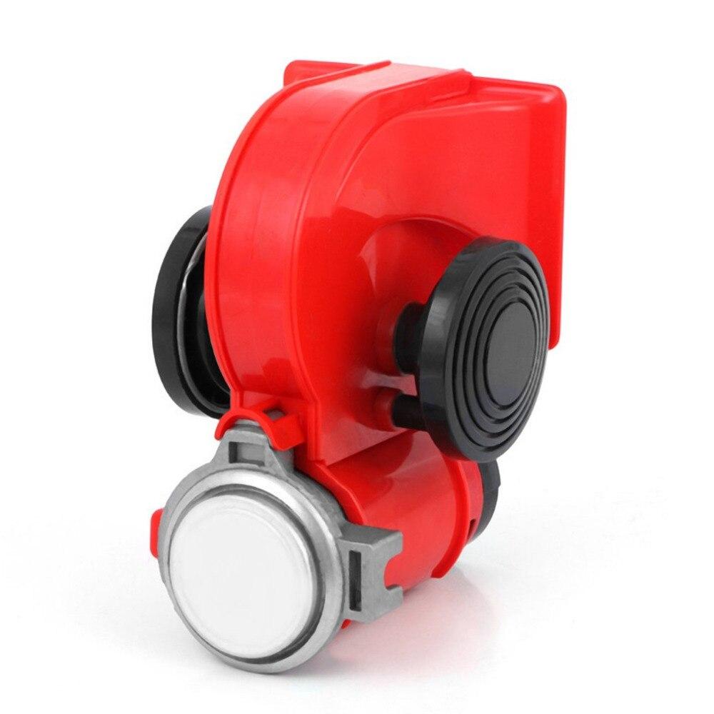 Professionelle 12 V/24 V Schnecke Air Horn High Power Laute Auto Elektrische Sirene Für Autos Lkw Motorrad Fahrzeug motorrad Heißer Verkauf