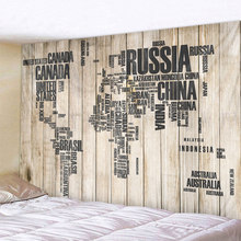 Wooden Board map Leaves Printed Large Wall Tapestry Cheap Hippie Wall Hanging Bohemian Wall Tapestries Mandala Wall Art Decor