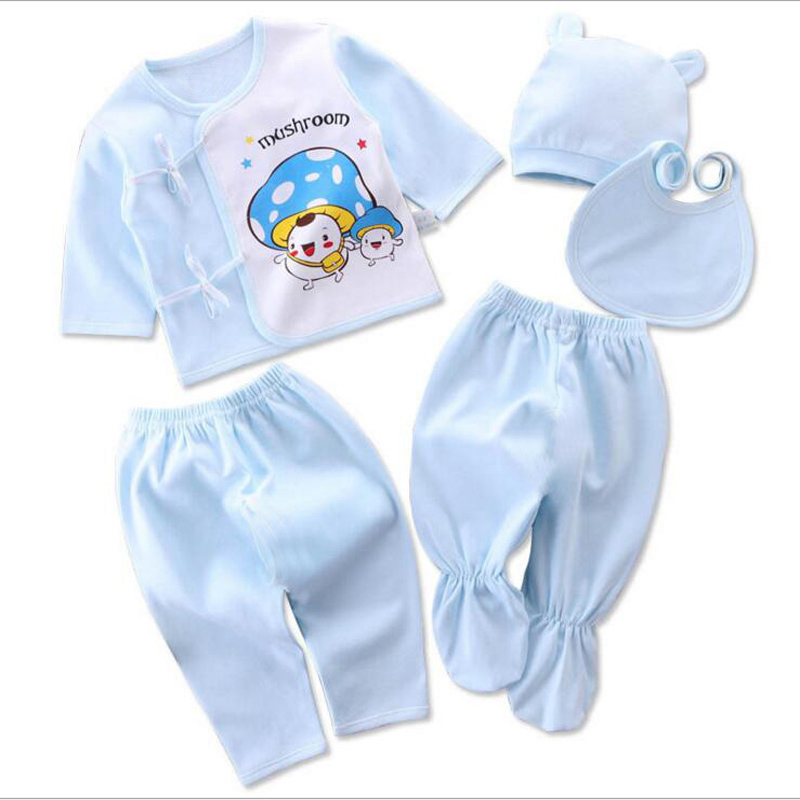 Bekamille Infant Newborn baby sets (5pcs/set) soft clothing cotton fashion boys girls suits