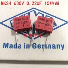 2019 hot sale 10pcs/20pcs WIMA capacitor MKS4 630V 0.22UF 630V 224 220n P: 15mm Spot knee-slapped Audio capacitor free shipping 50pcs cbb capacitor 630v 474 470nf 0 47uf pitch 20mm