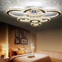 Современные Люстры Домашнее освещение cristal para sala Кристалл крепление для люстры для жизни столовая спальня лампа