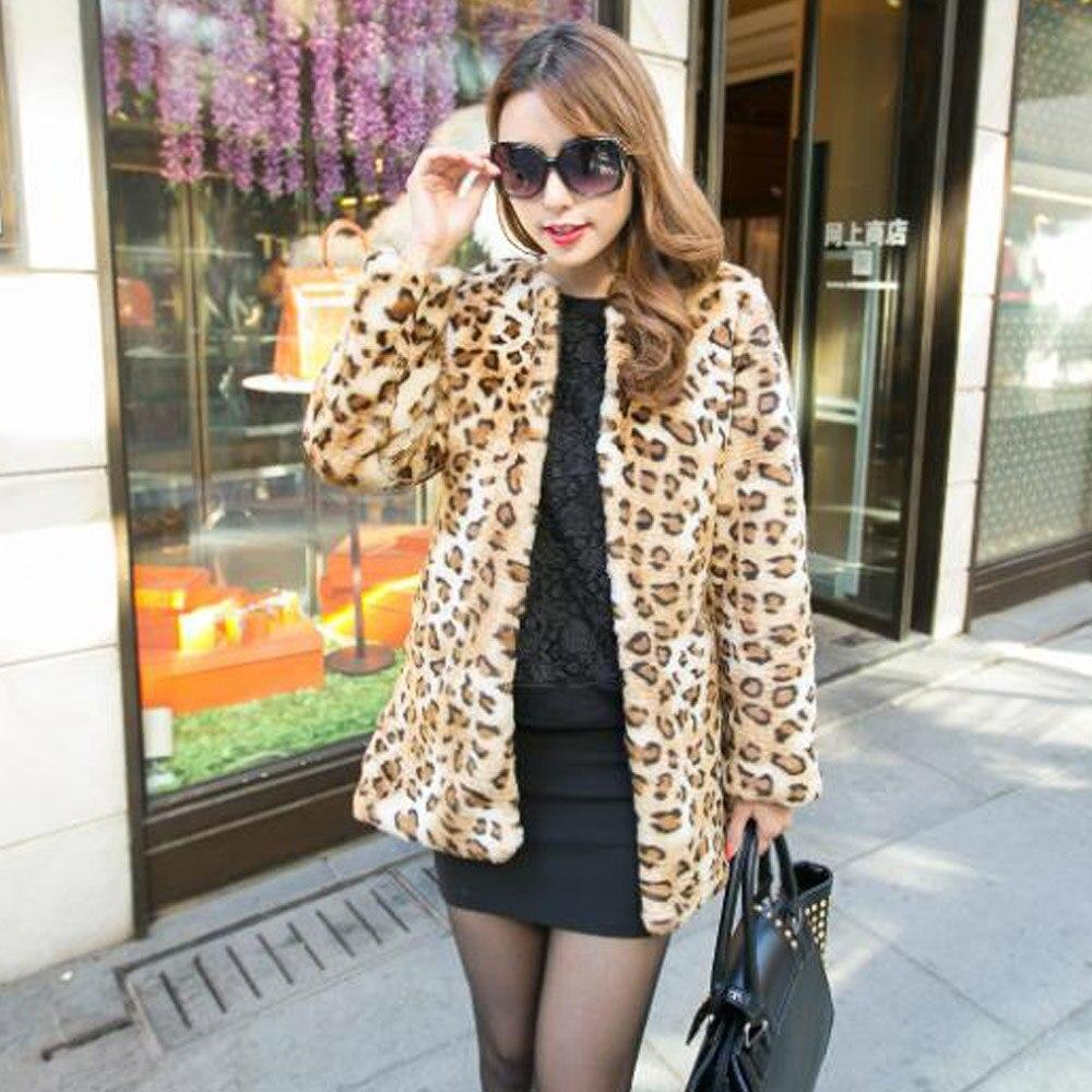 Online Buy Wholesale rabbit fur leopard coat from China rabbit fur ...