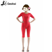 2017 Red Adult Unitard Women Sexy Backless Dance Suit Practice Leotard Lycra Spandex Gymnastic Suit Ballet
