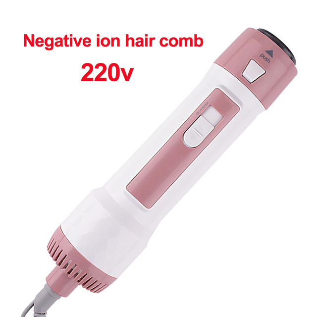 Cheveux bouclés/droits peigne tondeuse cheveux 3-en-1 ion négatif sèche cheveux multi-fonction coup & cheveux peigne intégré sèche cheveux machine