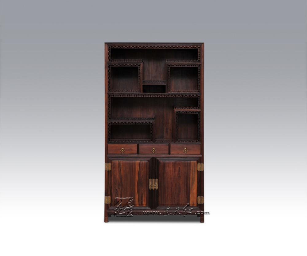 Antieke Boekenkast Mahonie.Klassieke Massief Houten Boekenkast Met Kluisjes Mahonie Kast