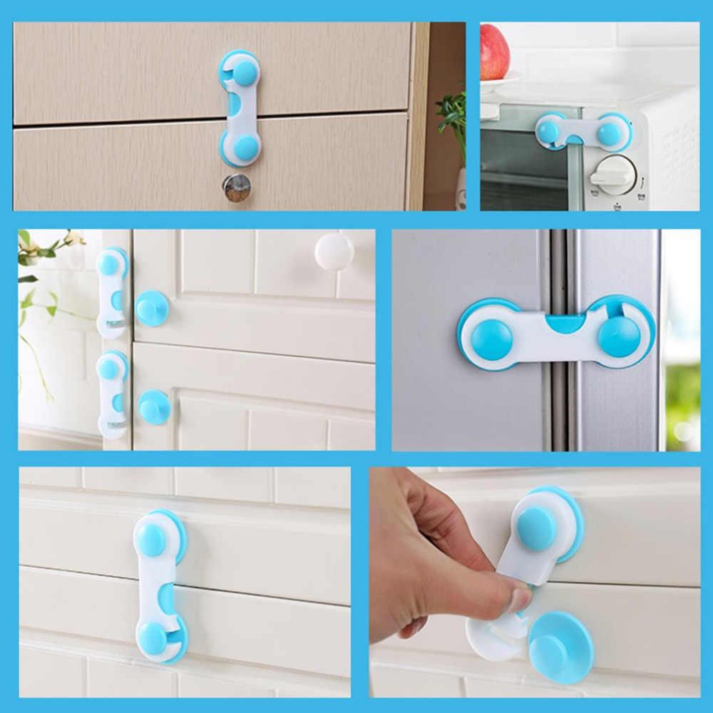 5pcs ABS Plastic Drawer Safety Lock Children Protect Care Wardrobe Cabinet Locker Supplies Pink Blue Wholesale