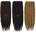 Box Braids Hair Crochet Braid Hair 3X Senegalese Twist Hair Crochet Synthetic Hair Kanekalon Kinky Marley Twist Braids