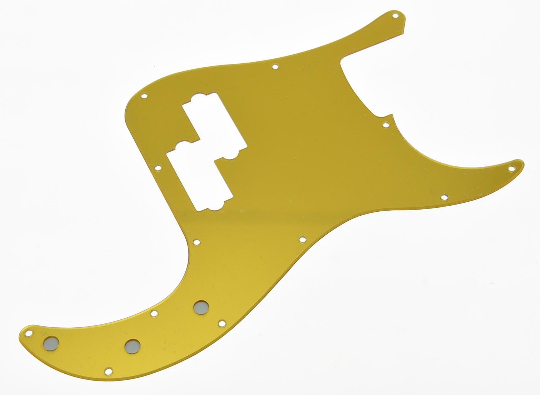 KAISH Gold Mirror P Bass Pickguard PB Scratch Plate Fits USA Precision Bass Guitar sg standard full face guitar pickguard scratch plate zebra stripe with screws