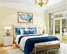 beibehang anaglyph idyllic nonwoven fabric wallpaper wedding room cozy bedroom living background papel de parede