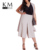 Gris Claro Kissmilk Tallas grandes Mujeres de Nueva Moda Gasa Pant Gran Tamaño Grande Natural Cintura Office Lady anchos de piernas pantalón 3XL-6XL