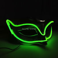 15 Kind Colorful LED Mask EL Wire Novelty Lighting Neon Glowing Disco Light Mask For Party