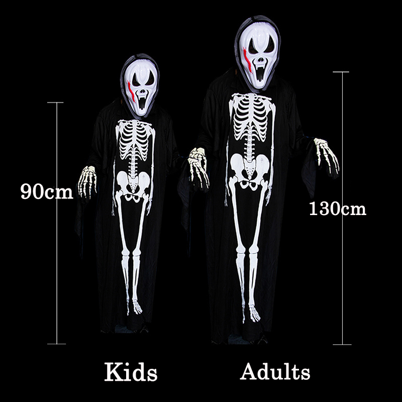 940a235d 2016 New halloween ghost scary costume mother daughter father son family  clothing set include mask jumpsuit gloves 3 piece set-in Matching Family  Outfits ...