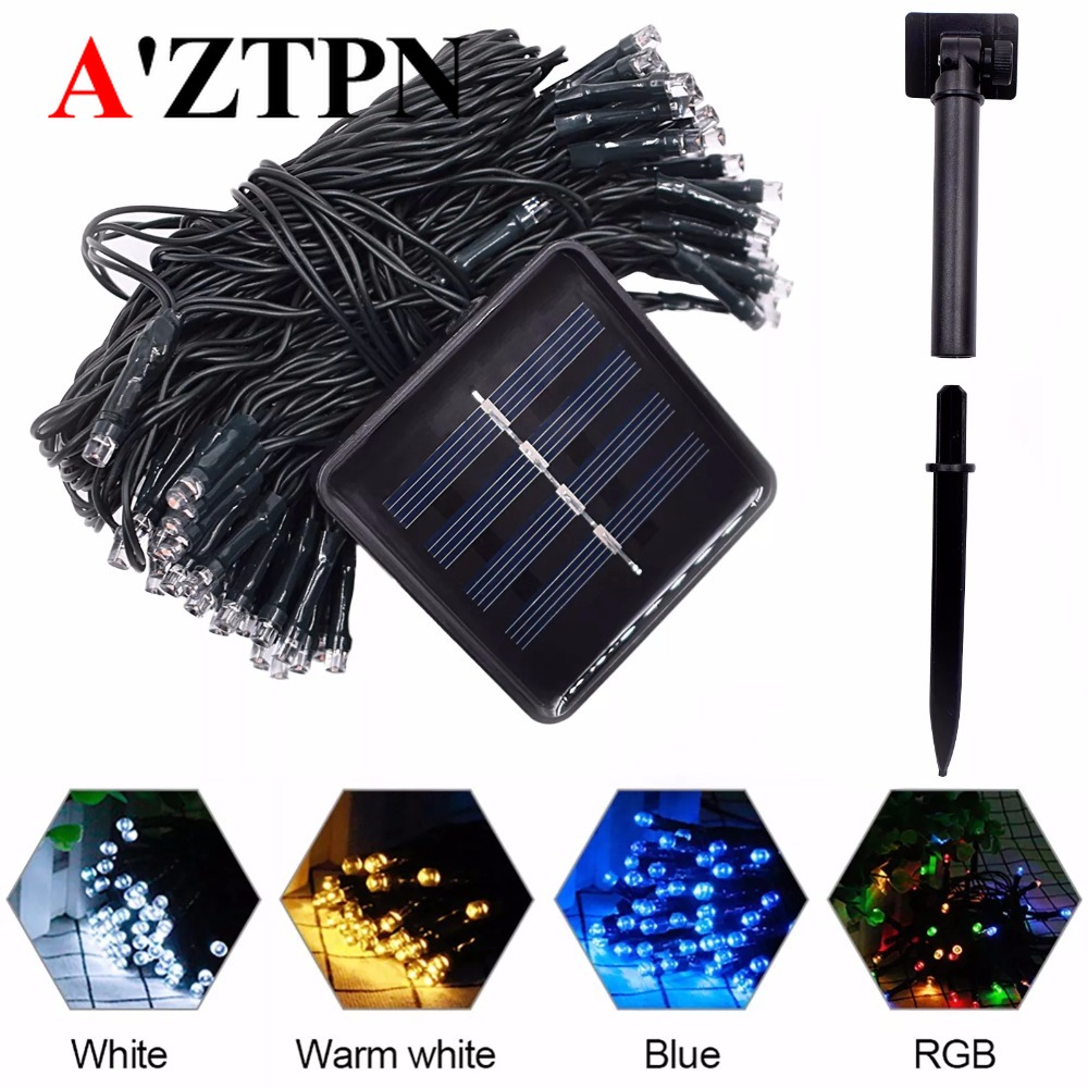 LED Solar String Fairy Lights Outdoor Premium Quality Waterproof Solar Power 7 Colors For Christmas Holiday Party Yard Garden