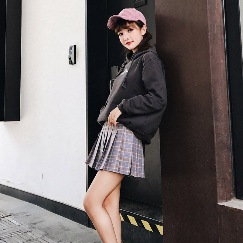 495fe9268b663 US $9.76 23% OFF|Preppy Style Women Girl Tutu Plaid Skirt High Waist  Pleated Skater Skirt A line School Skirt Uniform With Inner Shorts Plus  Size-in ...