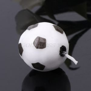 Image 5 - 6 pièces/ensemble ballon de Football Football bougies pour fête danniversaire enfant gâteau décoration fournitures livraison directe