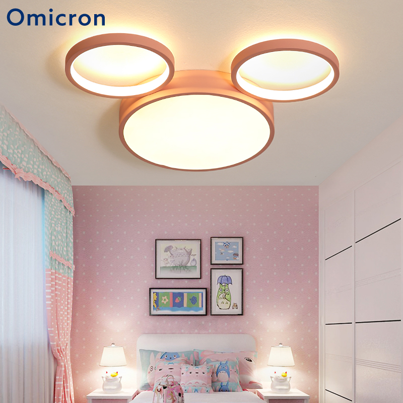 US $88.71 28% OFF|Omicron Modern Aluminum Ceiling Lights Creative Cartoon  Mickey Mouse Children Bedroom Lighting Household Lighting Tools-in Ceiling  ...