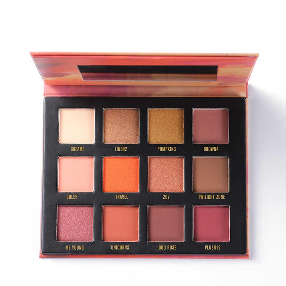 Nuevo 35/12 Color mate sombra de ojos bandeja resistente al agua naranja tierra Color sombra de ojos mezcla fácil de usar cosméticos TSLM2