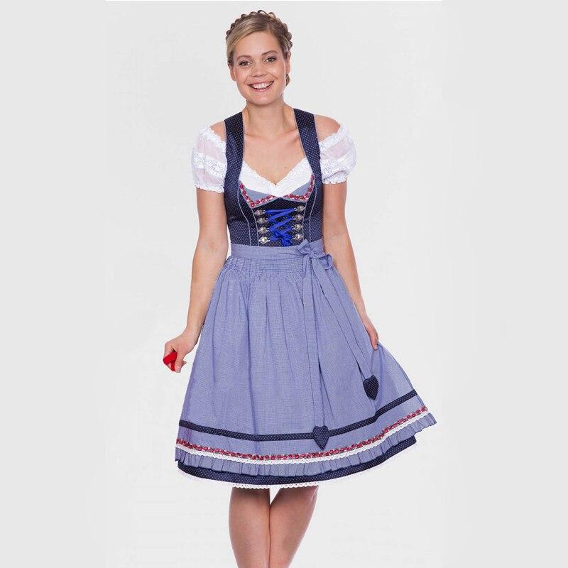 Deluxe Allemand Bavaroise Dirndl Traditionnelle Dames Oktoberfest Bière Fille Fantaisie Robe Adulte Femmes Jeune Fille Costume