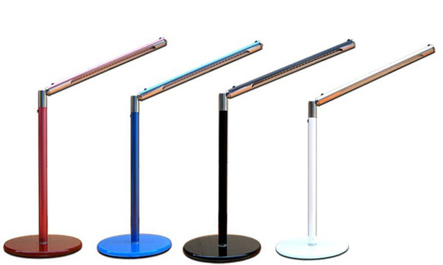 Hight Quality Bright-Led 24 Nuevos de Escritorio LED USB Lámpara de Mesa Iluminación Templado Base Vidrio/AC 110 V-220 V Potencia