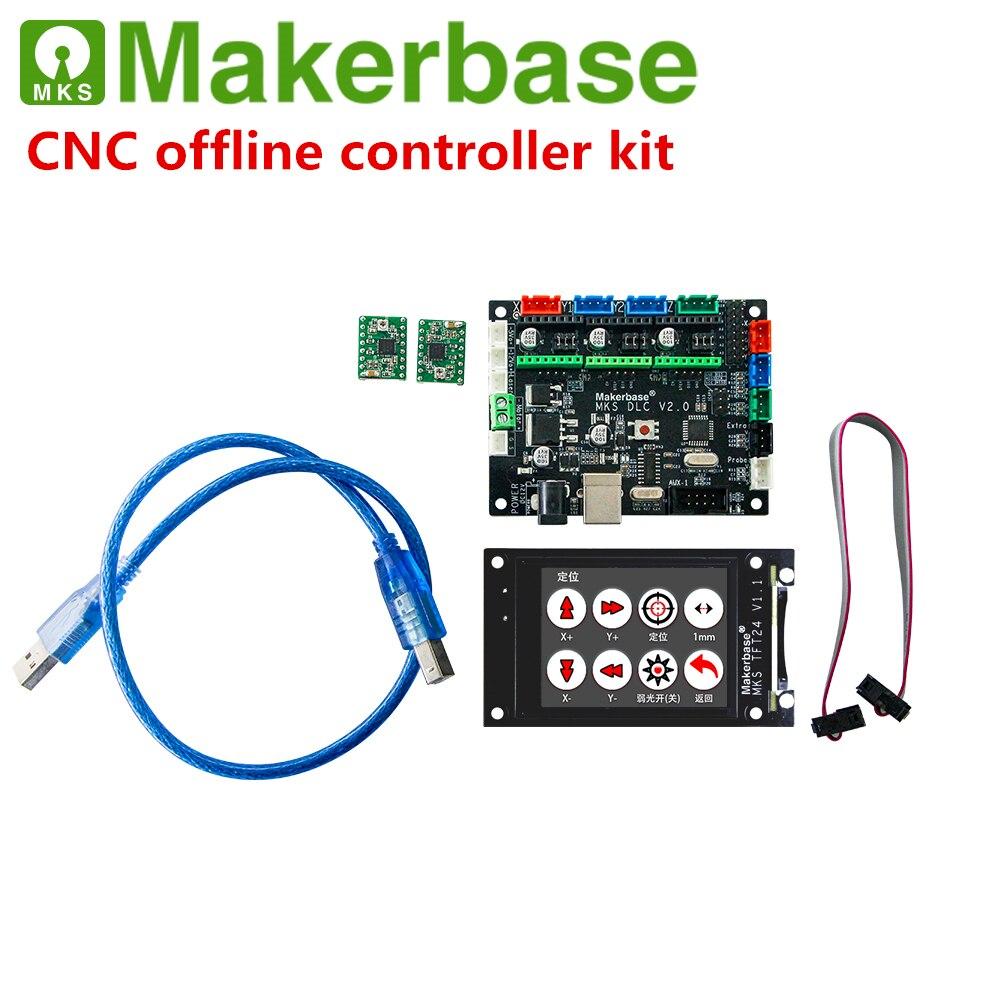 HORS-LIGNE MKS DLC GRBL CNC contrôleur + MKS TFT 24 écran tactile CNC gravure laser tableau de contrôle bricolage USB 3 axe moteur pas à pas