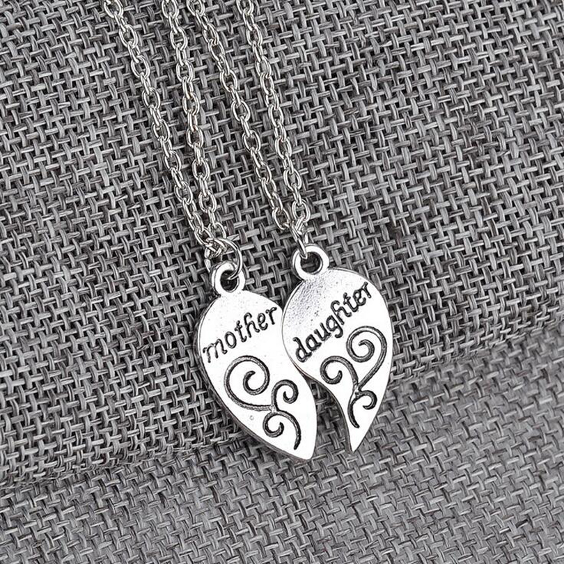 2 pcsset silver plated mother daughter necklace silver heart love 2 pcsset silver plated mother daughter necklace silver heart love mom necklaces pendants for women jewelry mother s day gift in pendant necklaces from aloadofball Choice Image