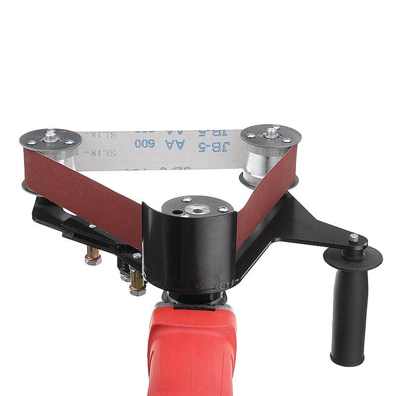 Acessório de Metal em Aço Inoxidável da Tubulação e do Tubo de Madeira Adaptador para 115 Novo Moedor Lixadeira Lixar Cinto 125 Angle Grinder