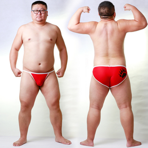 Image 2 - New Arrival Bear Claw Plus Size Mens Net Briefs Sexy Shorts Gay Bear Breathable Underwear Neon Yellow/Light Blue/Red M L XL XXL