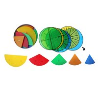 Magnetic Fraction Teaching Material Tools Mathematical Toy Math Learning Educational Toys for Children Toddler Kids