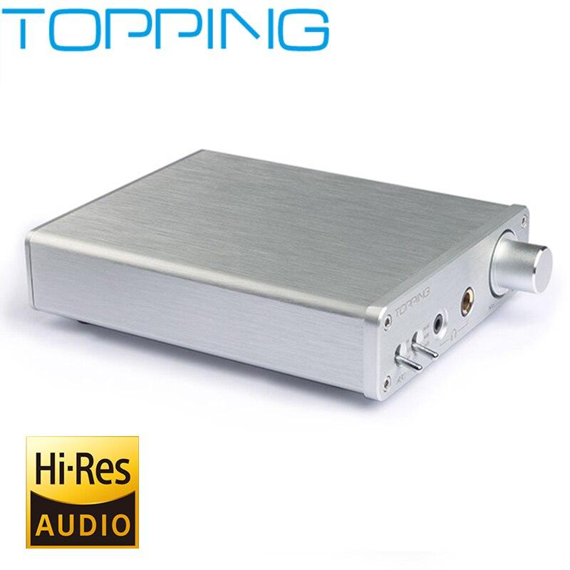 New Topping A30 Desktop Mini Headphone Amplifier TPA6120 Hifi Music Digital Power Audio Amp Home 3.5mm&6.35mm Headphone Output