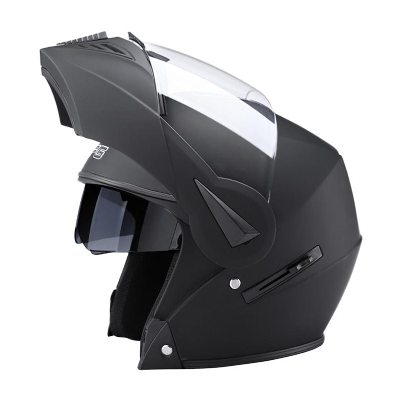 VORCOOL Motorcycle Full Face Helmet Motorbike Moped Street Bike Crash Racing Helmet Dual Sun Visor Flip Up Modular red green lines double lens motorcycle crash helmet high quality flip up electric motorbike full face motorcycle helmet