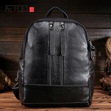 AETOO Женская кожаная сумка глава слой коровьей личи шаблон простой мода новые дамы прилив пакет рюкзак студент мешок