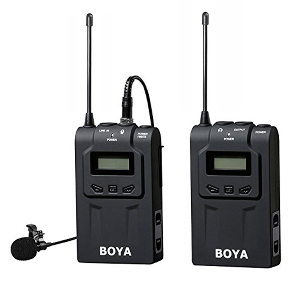 BOYA BY-WM6 Ultra High Frequency UHF Wireless Lavalier Microphone System for Canon Nikon Sony DSLR Camera Audio Recorder boya by wm6 uhf wireless acoustic transmission system microphone tour guiding simultaneous translation audio visual eduation