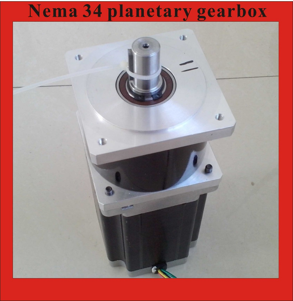 5:1 NEMA 34 Planetary Gear Stepper Motor 16mm Output shaft Motor Body Length 118mm kit engineering pneumatic air driven mixer motor 0 6hp 1400rpm 16mm od shaft