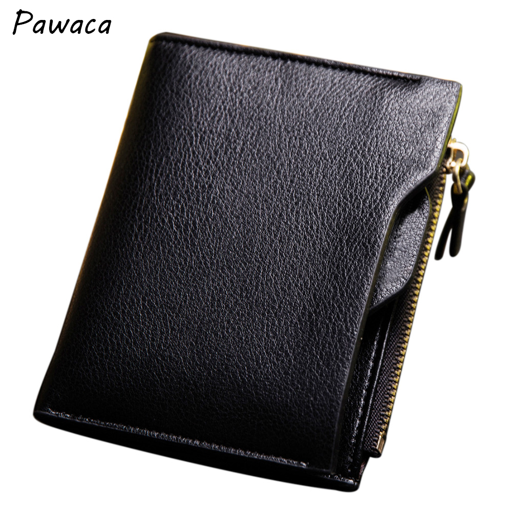 Male Leather Wallet RFID blocking Card Holder Money Magnetic Clamp for Money Small Purse Anti Theft Wallet for Men genuine leather men wallet cash clip small male purse nfc blocking card holder anti scan credit card rfid protection porte carte