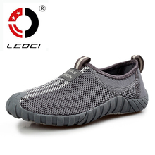 LEOCI 2016 Summer Women Mens Hiking Shoes Breathable Outdoor Shoes Anti-Slip Fishing Shoes Trekking Shoes Sneakers Size 35-44